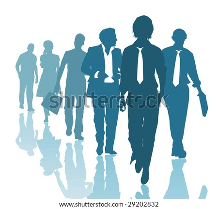 Group of young business people Teamwork Business team - stock vector