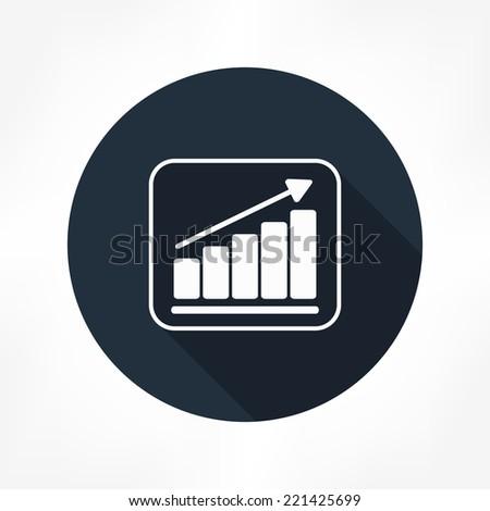 grow graph icon - stock vector