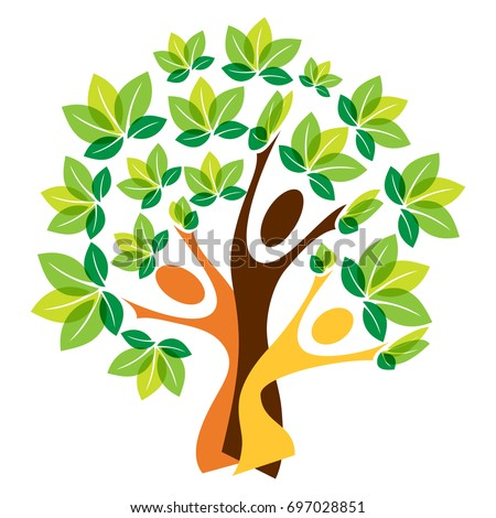 Growing family tree concept stock vector 200478053 for Growing families
