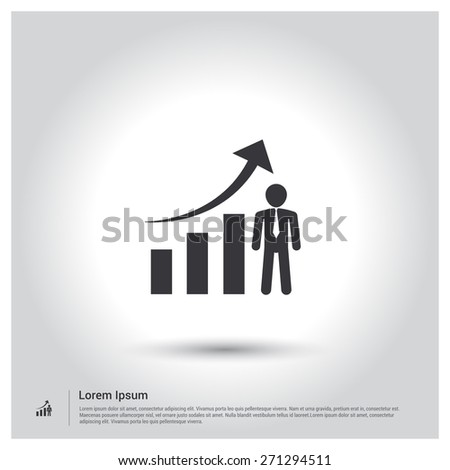 Growing user graph icon rising graph stock vector 271251665 growing graph icon growth chart concept icon pictogram icon on gray background vector illustration voltagebd Choice Image