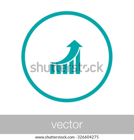 growing graph icon. Infographic. Chart icon. Growing graph simbol. - Graph icon - Concept flat style design icon - stock vector