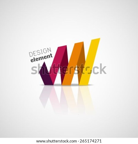 Growing graph logo design template - stock vector