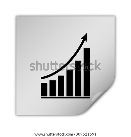 growing graph vector icon