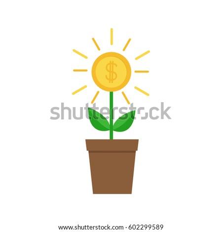 Pot of gold banco de imagens imagens e vetores livres de direitos shutterstock - Successful flower growing business ...