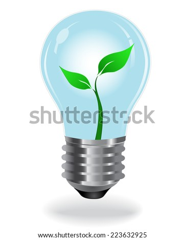 Growing plant, bulb, green - stock vector