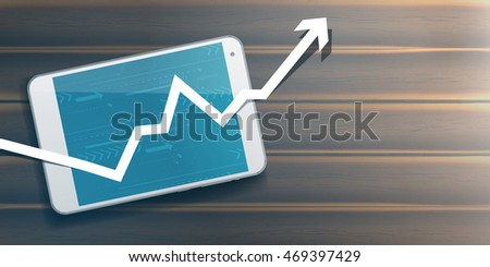 Growing profit abstract business vector concept