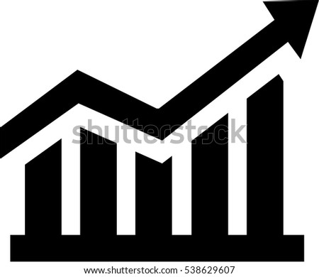 growing sales chart stock vector royalty free 538629607 shutterstock