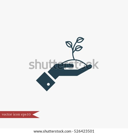 Growing start up icon simple vector illustration