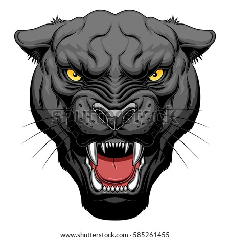 Angry Wolf Head Show His Sharp Stock Vector 326923583 ...