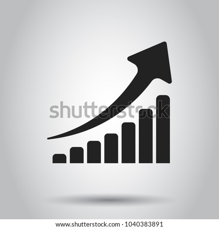 Growth chart icon grow diagram flat stock vector 2018 1040383891 grow diagram flat vector illustration business concept simple flat pictogram on ccuart Image collections