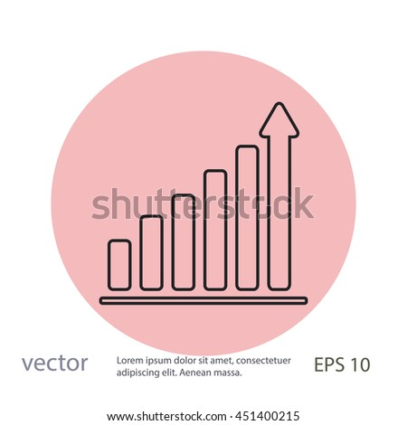 Growth diagram,vector icon