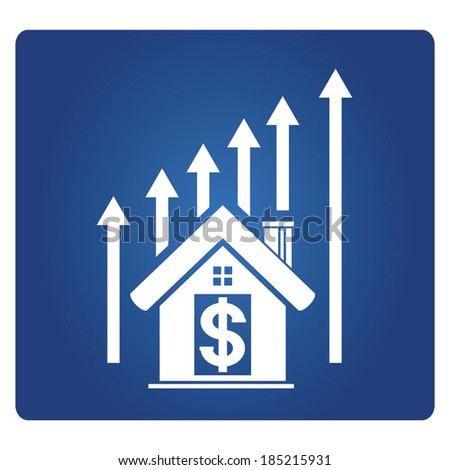 growth graph of real estate, asset pricing  - stock vector