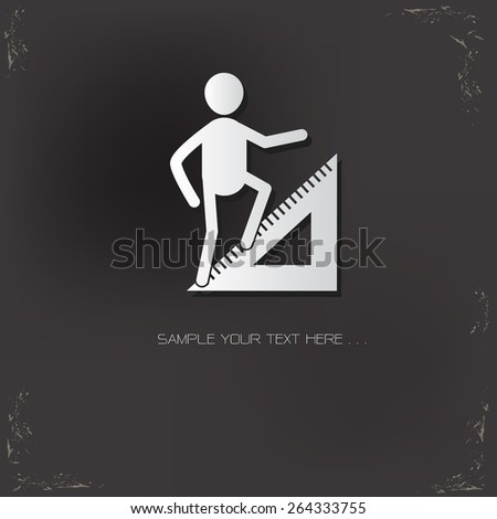 Growth,Human resource design on old background,vector - stock vector