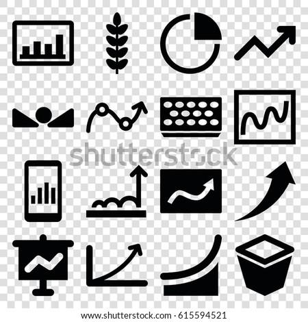 Growth Icons Set Set 16 Growth Stock Photo Photo Vector