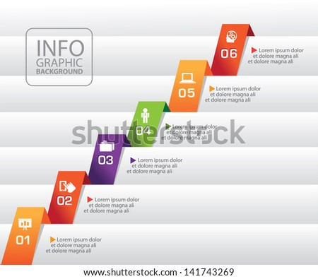 Growth info graphic. EPS 10 vector, grouped for easy editing. No open shapes or paths. - stock vector