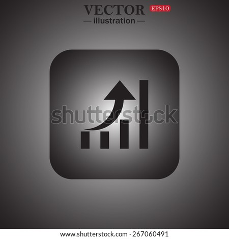 growth of business, web icon. vector design - stock vector
