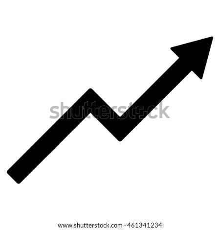 Growth Trend Chart Icon Vector Style Stock Vector 461341234