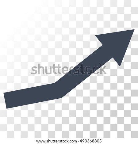 Growth Trend vector icon. Image style is a flat smooth blue pictograph symbol.
