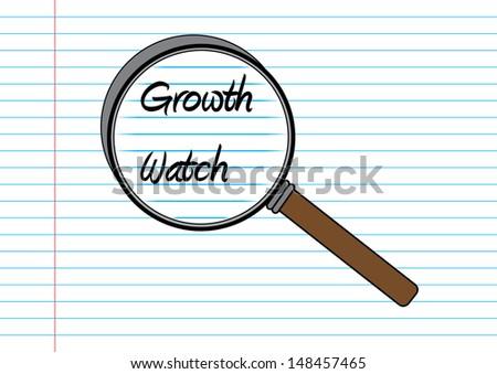Growth Watch Concept. Vector - stock vector
