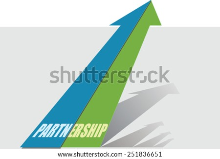 Growth with partnership - stock vector