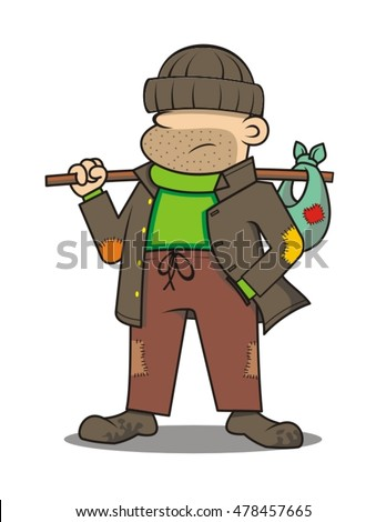 Grumpy Homeless Guys vector