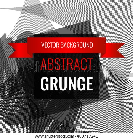 Grunge abstract background with space for inscriptions. Vector illustration EPS10 - stock vector
