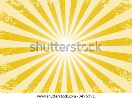 Grunge abstract shine orange background (vector, illustration, pattern) - stock vector