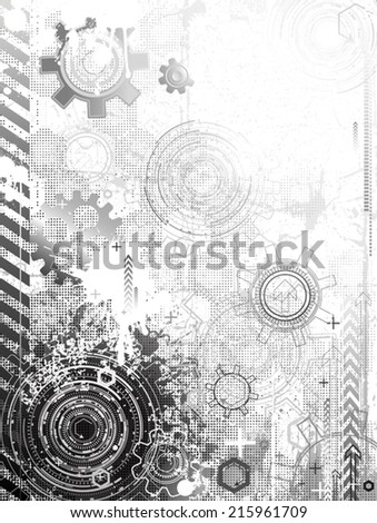 Grunge abstraction - stock vector