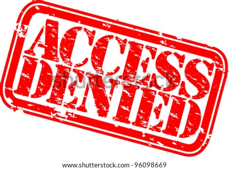 Grunge access denied rubber stamp, vector illustration - stock vector