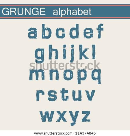 Grunge Alphabet - stock vector