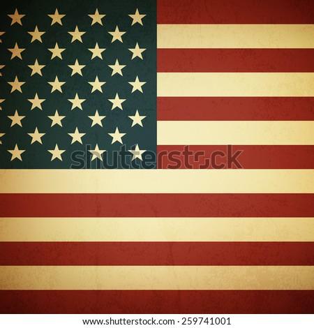 Grunge american flag background - Vector - stock vector