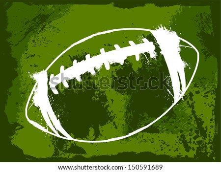 Grunge American Football - stock vector