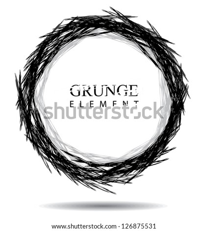 Grunge Background Created with Custom Brush. EPS 8 vector, no open shapes or paths. Grouped for easy editing. - stock vector