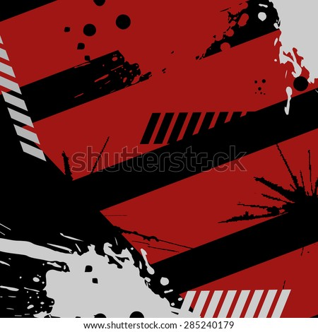 Grunge background. Red, black and white colors