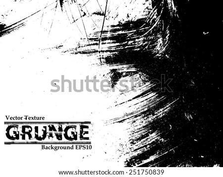 Grunge Background Texture . Vector Distress Background . Cracked Texture . Distress Texture . Grunge Texture . Dirt Texture . Overlay Texture . - stock vector