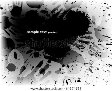Grunge background. Vector illustration. - stock vector