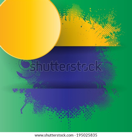 Grunge background with Brazilian flag colors