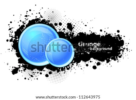 Grunge background with circles - stock vector