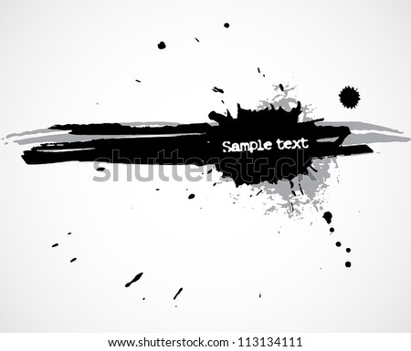 Grunge background with ink blots and stains - stock vector