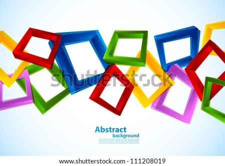 Grunge background with photoframe - stock vector