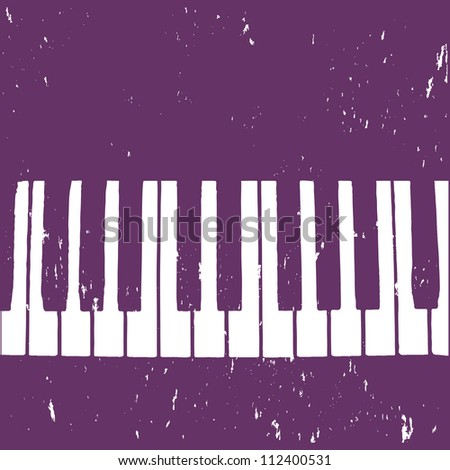 Grunge background with piano - stock vector