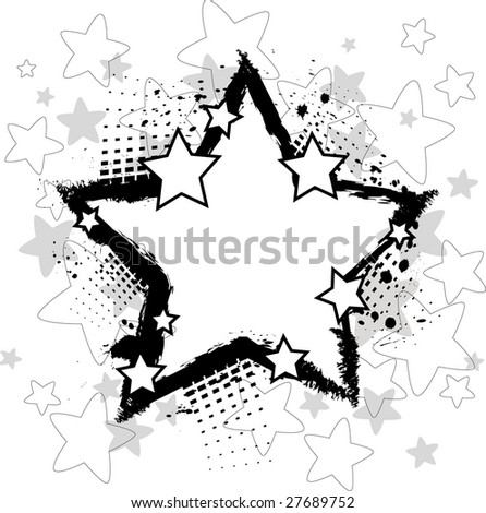 Grunge background with stars