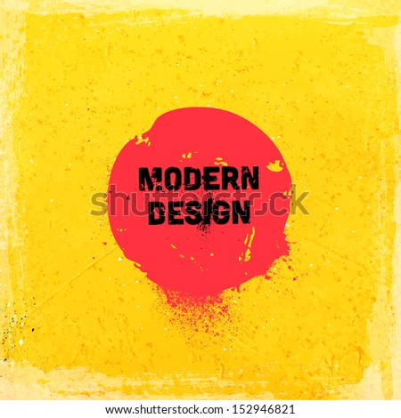 Grunge background with vintage frame. Watercolor paper texture background. Modern design. - stock vector