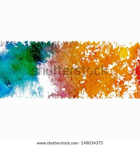 Grunge banner. Grunge watercolor background. Vector watercolor spot.
