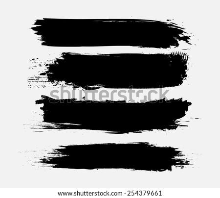 Grunge banner set.Black grunge banners.Vector illustration. - stock vector