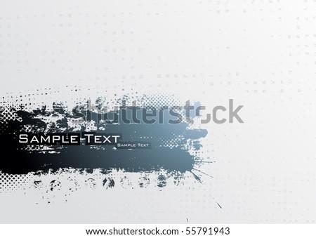 Grunge banner. Vector. - stock vector