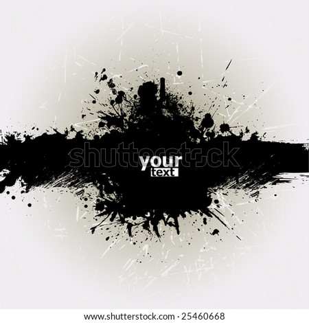 Grunge banner with an inky dribble strip with copy space 2 - stock vector