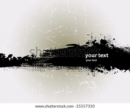 Grunge banner with an inky dribble strip with copy space 3 - stock vector