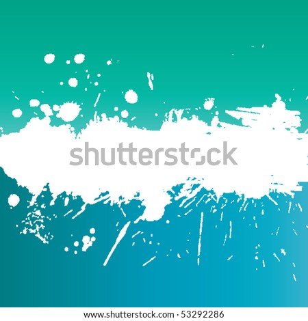 Grunge banner with white inky splashes - stock vector