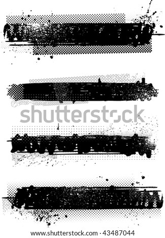 Grunge banners. Vector.